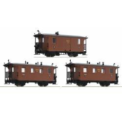 Roco 34043 - 3 piece set: Passenger cars