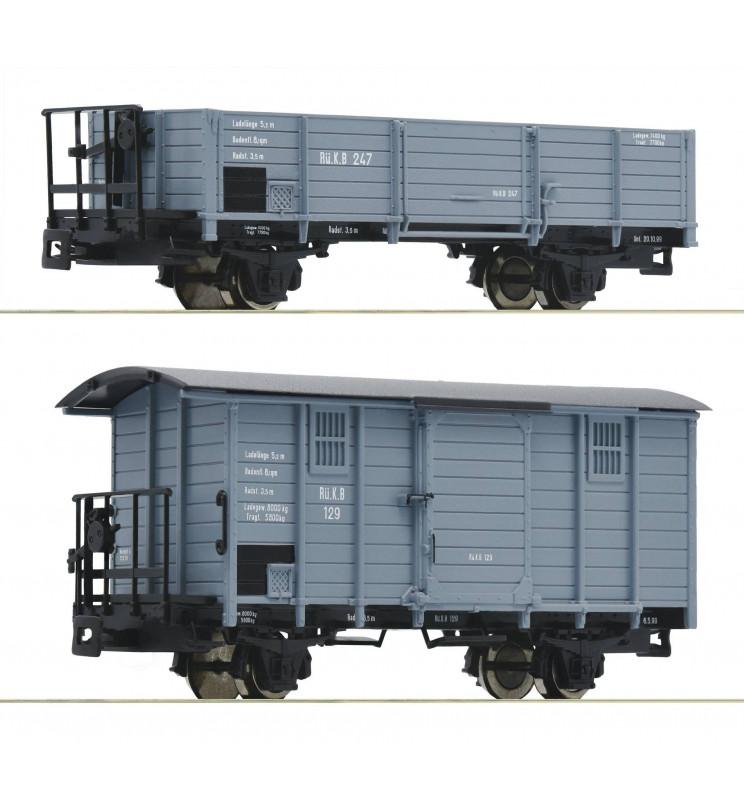 Roco 34559 - Zestaw 2 wagonów towarowych H0e, ep. I