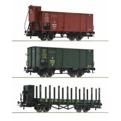 Roco 76094 - 3 piece set: Goods wagons