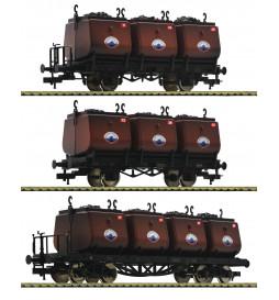 Fleischmann 526506 - 3-tlg. Set Kohlekübelwagen, Niederschlesisches Steinkohlen-Syndikat (Teil 2)