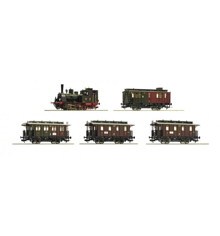 Roco 61475 - Zestaw: parowóz T3 oraz wagony pasażerskie, ep. I, K.P.E.V.