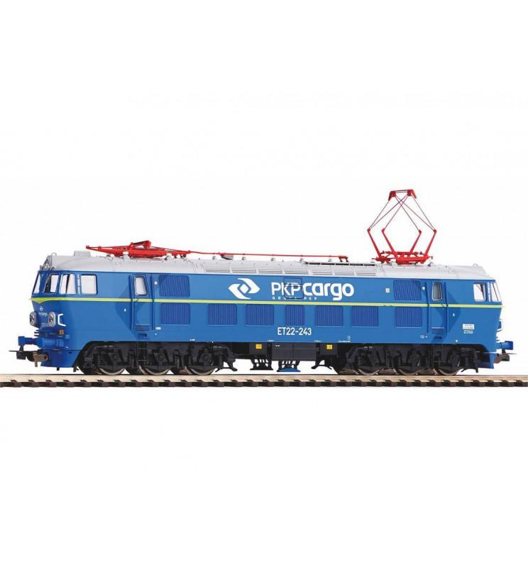 Piko 96334 - Lokomotywa ET22-243 PKP Cargo z dekoderem dźwiękowym ESU oraz światłami E1