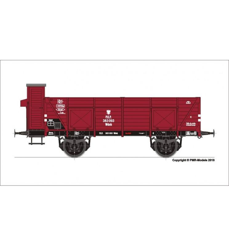 Tillig 501919 - 2-osiowy wagon węglarka Wdoh (ex CSD) z budką hamulcową, PKP ep. III