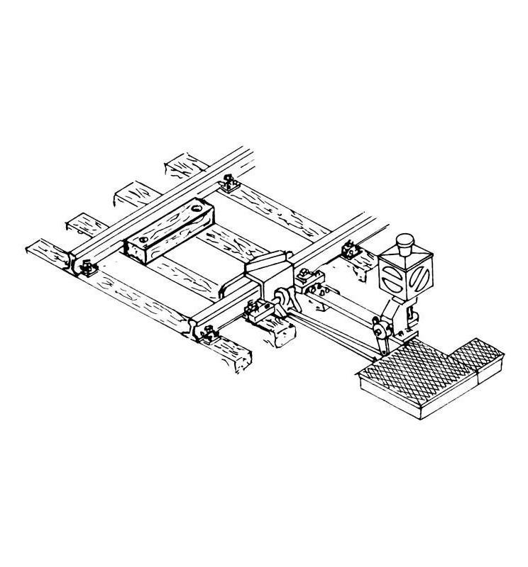 Weinert 72331 - Latarnia zwrotnicowa podświetlana wraz z napędem zwrotnicowym do torów MeinGleis Code 83