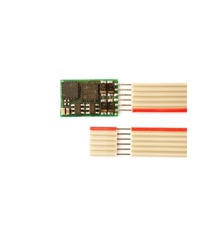 Dekoder DCC/SX/MM jazdy i oświeltenia D&H DH10C-1 6-pin (taśma)