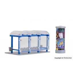Kibri 38142 - H0 Deco-set Bus stop