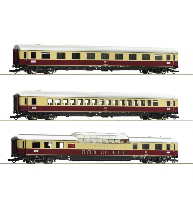 Roco 74136 - Zestaw 3 wagonów pociągu Rheingold DB, część 2