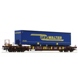 Roco 76221 - Wagon kieszeniowy T3 AAE z naczepą LKW Walter
