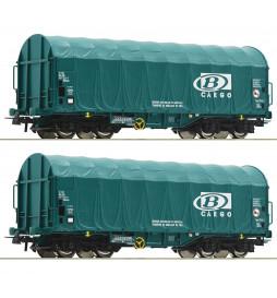Roco 76071 - Zestaw 2 wagonów plandekowych SNCB