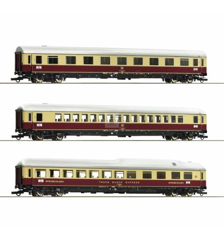 Roco 74135 - Zestaw 3 wagonów pociągu Rheingold DB, część 1