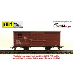 TM/PMT Wagon wąskotorowy kryty PKP K 20010, skala H0e