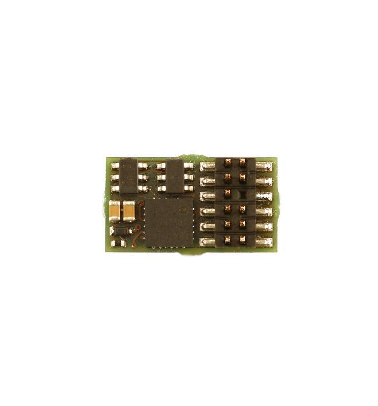 Miniaturowy dekoder DCC/SX/MM jazdy i oświeltenia D&H DH12A PluX12 12-pin
