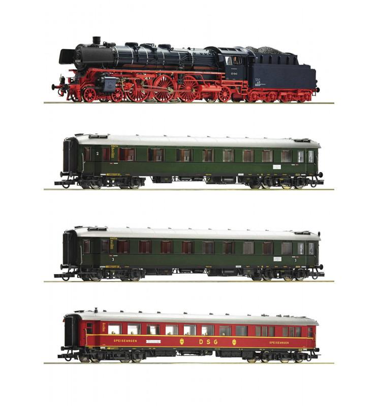 Roco 61474 - Zestaw specjalny: Parowóz cyfrowy 03.10 oraz 3 wagony pospieszne DB