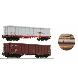 Roco 76076 - Zestaw 2 wagonów odkrytych ÖBB