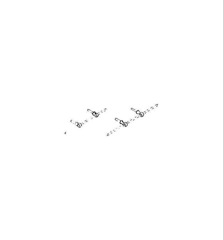 Weinert 8460 - Uchwyty kulowe, krótkie z otworem 0,4mm
