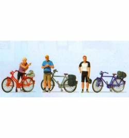 Rowerzyści w trakcie postoju 1/87 - Preiser 10644
