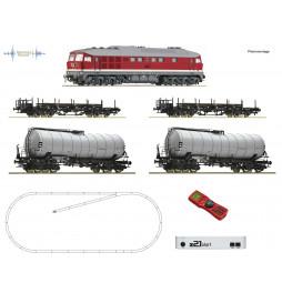 Roco 51328 - Cyfrowy zestaw startowy z21start, lok. BR142 DCC z dźwiękiem + 4 wagony towarowe DR