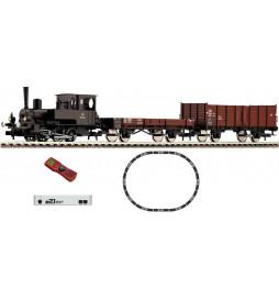Fleischmann 631582 - Cyfrowy zestaw startowy Parowozik Rh 788 z pociągiem towarowym OBB