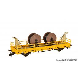 Kibri 26266 - H0 Platforma z urządzeniami do montażu sieci trakcyjnej