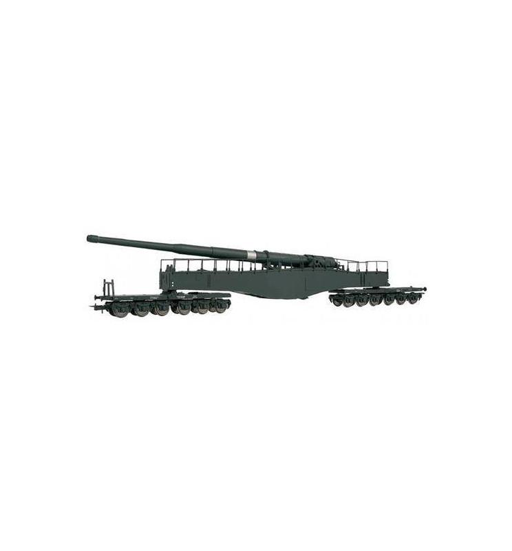 Rivarossi HR6450 - Działo kolejowe Leopold K5 (szare), DRB, ep. II