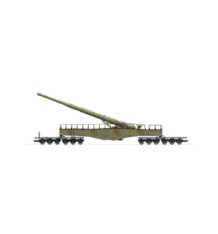 Rivarossi HR6451 - Działo kolejowe Leopold K5 (kamuflaż), DRB, ep. II