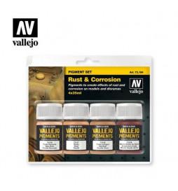 """Vallejo 73194 - Zestaw 4 pigmentów """"Rdza i korozja"""""""
