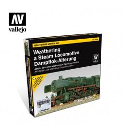 Vallejo 73099 - Zestaw 9 farb do patynowania (weatheringu) parowozów