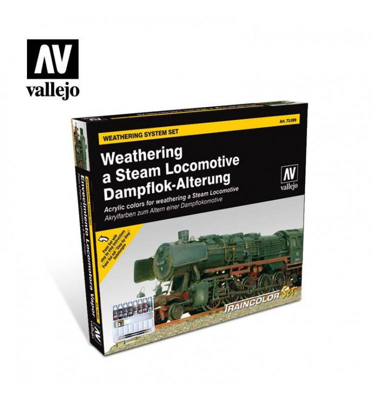 Vallejo 73099 - Zestaw farb do patynowania (weatheringu) parowozów