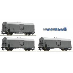 Roco 67118 - 3 piece set: Refrigerator wagons