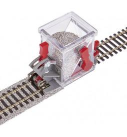 Przyrząd do szutrowania torów z odcięciem oraz kółkami - Proses PBS-H0-02