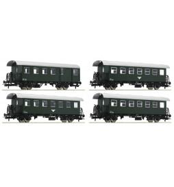Roco 74162 - Zestaw 4 wagonów osobowych ÖBB
