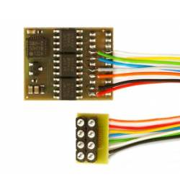 Dekoder DCC/SX/MM jazdy i oświeltenia D&H DH21A-2 8-pin z przewodami