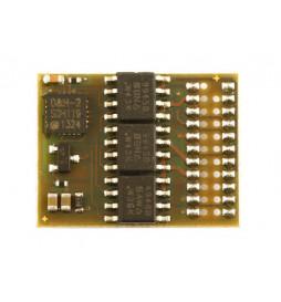 Dekoder DCC/SX/MM jazdy i oświeltenia D&H DH21A-0 tylko styki, bez przewodów