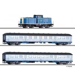 Tillig TT 01443 - Zestaw START Pociąg osobowy z BR212, DB