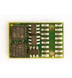 Dekoder DCC/SX/MM jazdy i oświeltenia D&H DH16A-0 tylko styki, bez przewodów