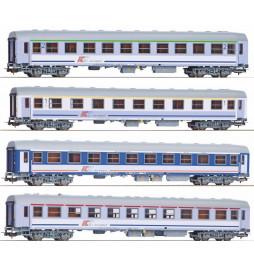 Zestaw wagonów PKP Intercity 2kl+1kl+kuszetka+bar Piko 111A 2kl PKP Intercity, ep.VI