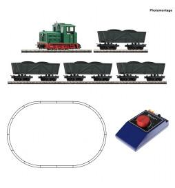 Roco 31034 - Analogowy zestaw kolejki polowej z lokomotywą spalinową i kolebami
