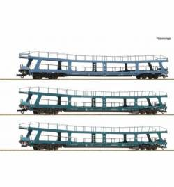 Roco 74097 - Zestaw 3 lawet do przewozu samochodów Christoforus - Express z DB