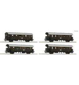 Roco 74102 - Zestaw 4 wagonów osobowych Donnerbüchse