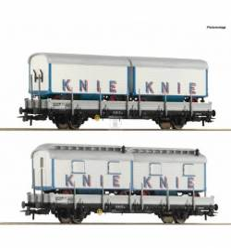 Roco 76064 - Zestaw 2 wagonów platform z łądunkiem Circus Knie