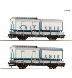 Roco 76065 - Zestaw 2 wagonów platform z łądunkiem Circus Knie