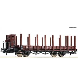 Roco 76869 - Wagon towarowy platforma z kłonicami, DRG