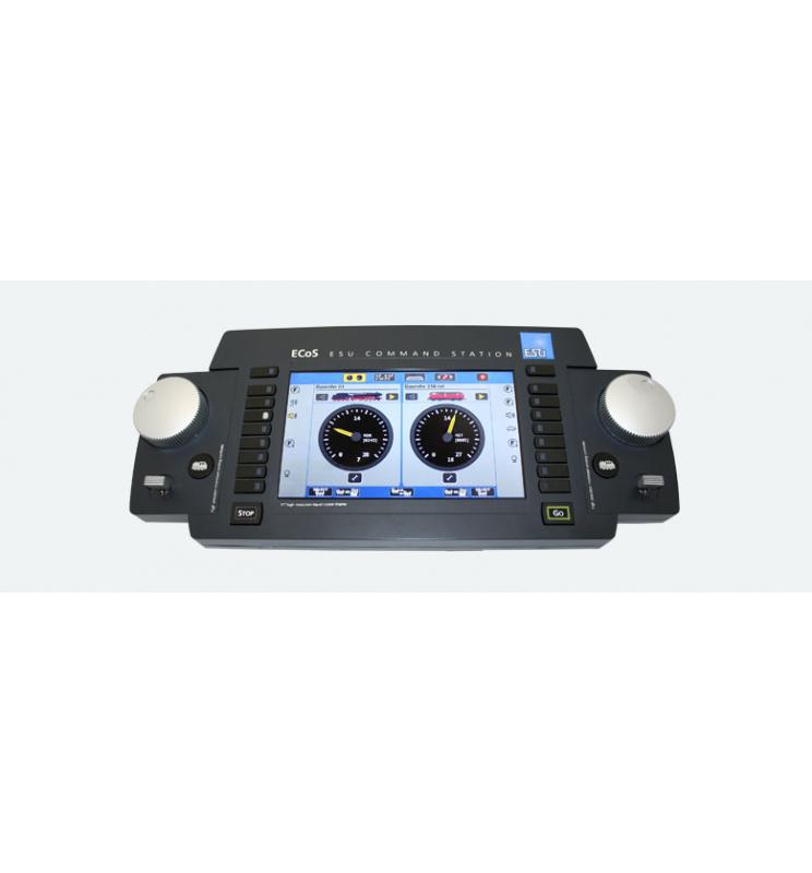 """Centrala ECoS 2, Wyświetlacz 7"""" TFT kolorowy, MM/DCC/SX/M4, Zestaw z zasilaczem 240V Euro, Nap. Wyj. 15V-21V - ESU 50200"""