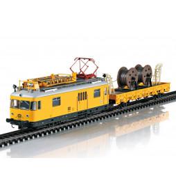 Trix T22973 - Wagon motorowy techniczny BR 701+ przyczepka (pociąg sieciowy), DCC z dźwiękiem i ruchomym pomostem i pantografem