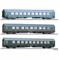 "Tillig TT 01003 - Passenger coach set ""Salonwagenzug 4"" of the DR, with three passenger coaches, Ep. IV -NEW-"