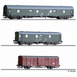 "Tillig TT 01005 - Set ""Postzug"" of the Deutschen Post with three cars, Ep. IV"