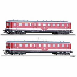Tillig TT 01011 - Set of the DR with two driving cab coaches class 195 of the DR, Ep. IV