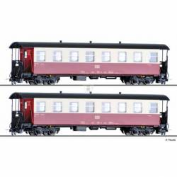 Tillig H0 03982 - Passenger coach set of the HSB with two passenger coaches KB, Ep. V/VI