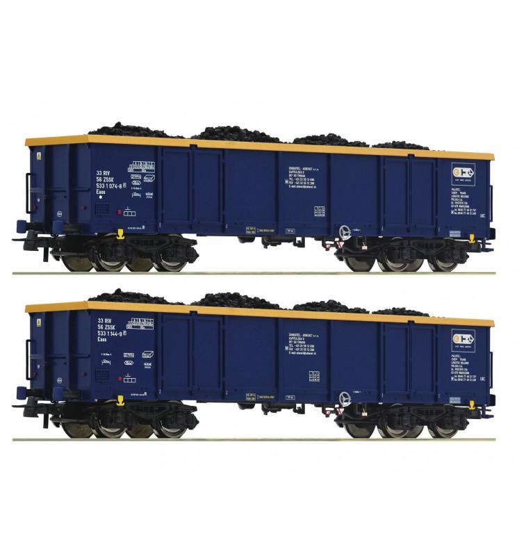 Roco 76086 - Zestaw 2 wagonów odkrytych / węglarek, CTL Logistics, ep. VI