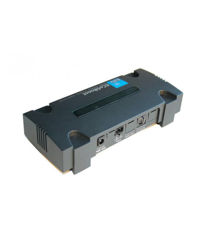 ECoSBoost, dodatkowy booster, 4A, MM/DCC/SX/mfx, zestaw z zasilaczem 120-240V, EU + US, Instr. w j. niem. i ang. - ESU 50010
